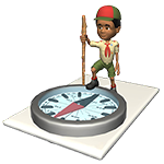 Boy Scout on compass