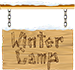 winter camp sign
